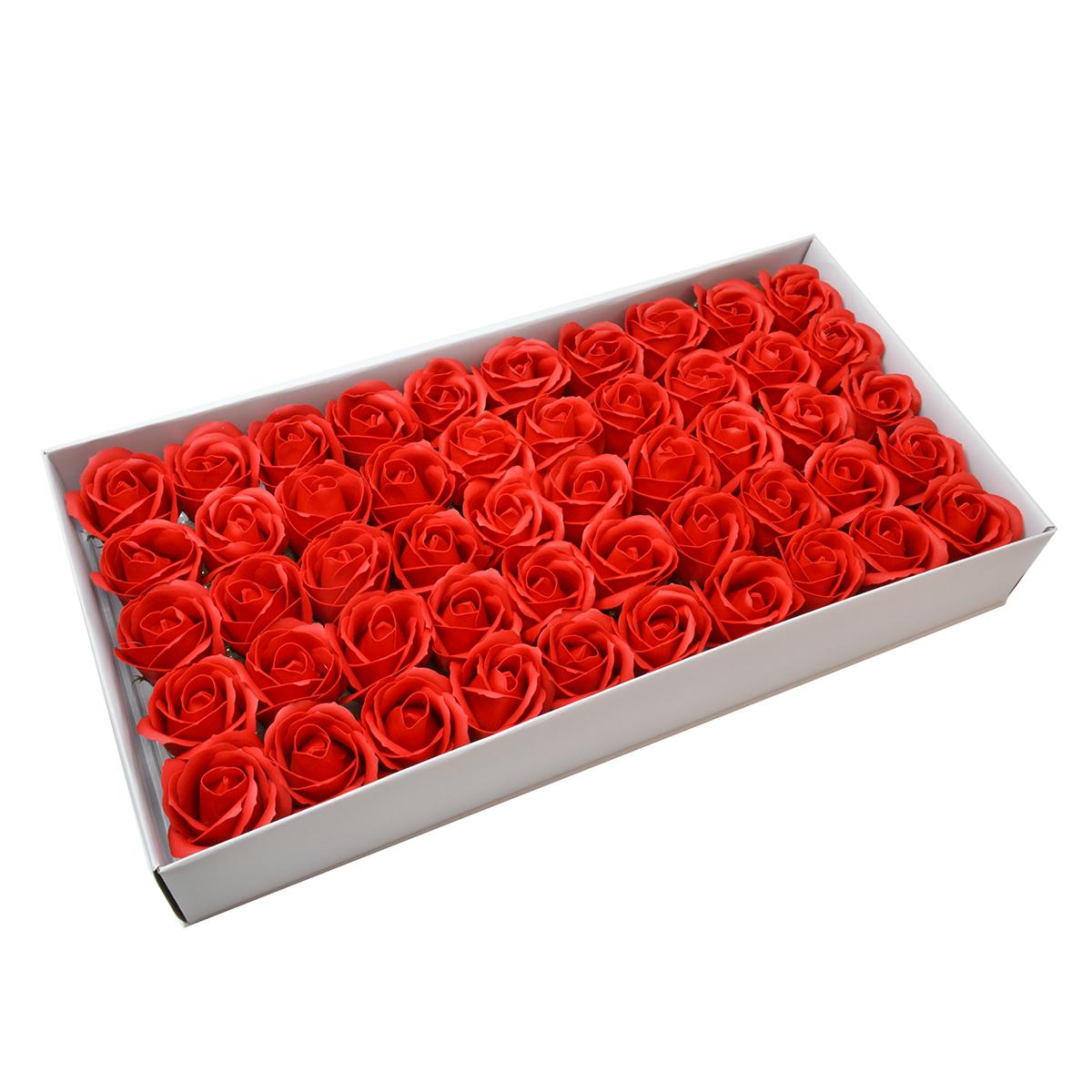 Set di 50 rose di sapone profumate, tocco reale, qualità rossa I.