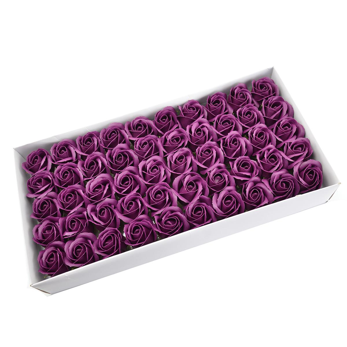 Set di 50 rose di sapone profumate, real touch, marsalla