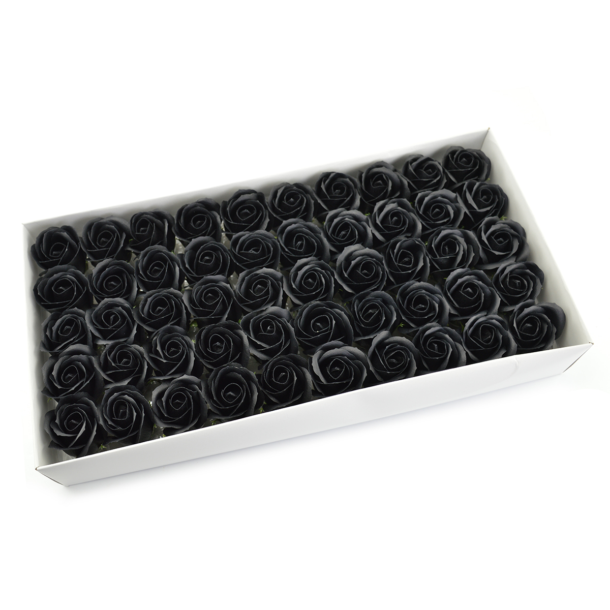 Set di 50 rose di sapone profumate, real touch, nere