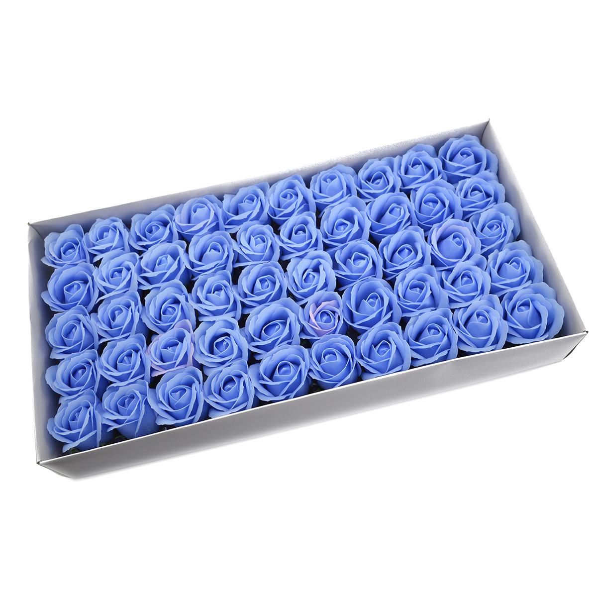 Set di 50 rose di sapone profumate, real touch, bleo