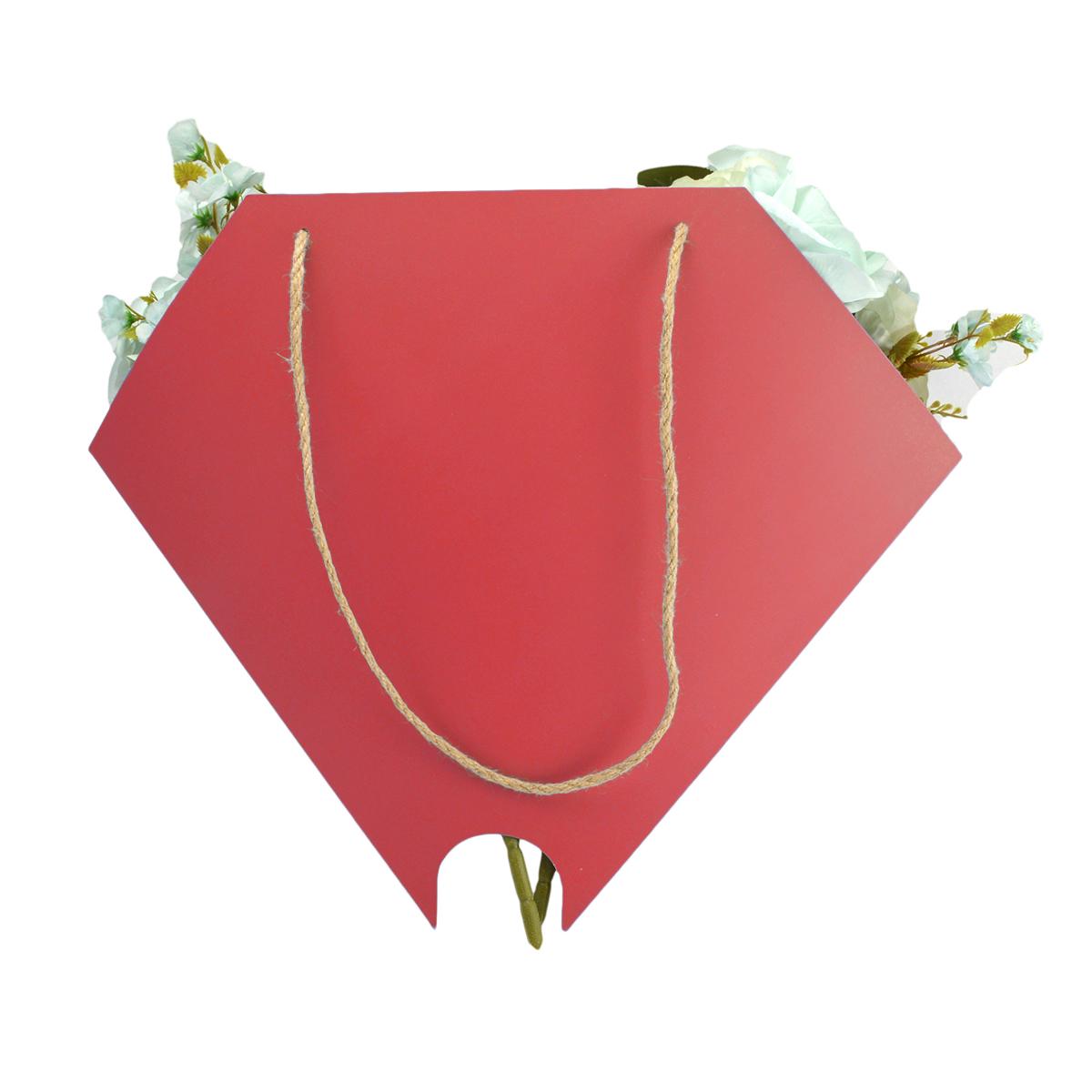 Borsa per bouquet rotondo rosso scuro