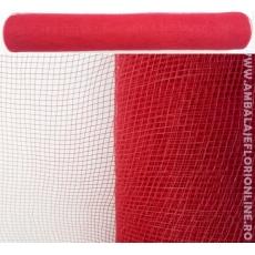 Rete di plastica rossa semplice