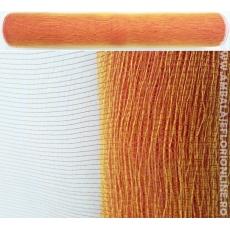Rete di plastica semplice rossa con oro