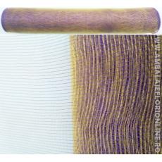Semplice maglia di plastica viola con oro