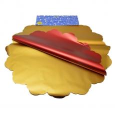 Cellophane metallico rotondo 50CM oro e rosso