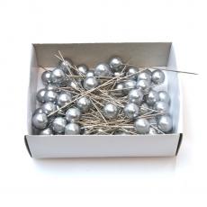 Asso 10 mm x 6,5 cm 50 pezzi argento