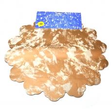 Cellophane rotondo 40CM marrone maculato con crema