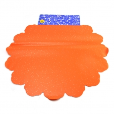 Cellophane Rotondo 60CM Pois arancione