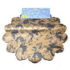 Cellophane rotondo 40 cm maculato marrone con nero