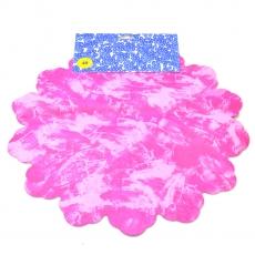 Cellophane rotondo 40 cm tinto rosa con rosa