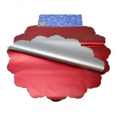 Cellophane metallico rotondo 50CM argento e rosso