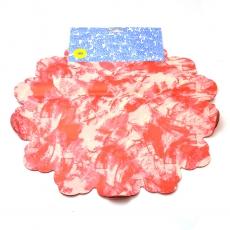 Macchia rossa di cellophane rotondo 40 cm con crema