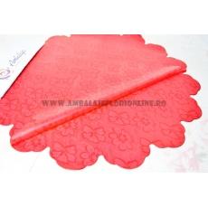 Fiori rossi rotondi 60 cm di cellophane