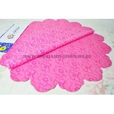 Fiori rosa rotondi 60 cm di cellophane