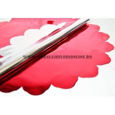 Rotondo 60 cm metallico rosso