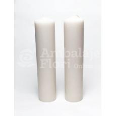 Candele nuziali cilindriche corte 30 cm / 7 cm