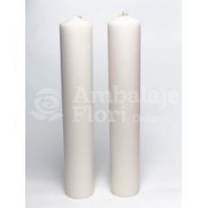 Candele nuziali cilindriche corte 40 cm / 7 cm