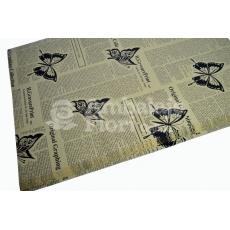 Giornale di carta kraft farfalle nere