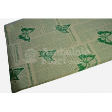 Giornale di carta kraft farfalle verdi