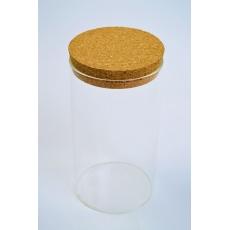 Cilindro di vetro 15 cm x 8 cm