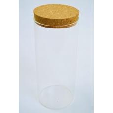 Cilindro di vetro 20 cm x 8 cm