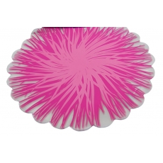 Fiamme rotonde in cellophane Siclam con rosa