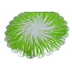 Cellophane rotondo fiamma verde e bianco