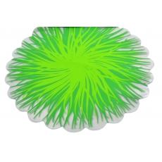 Fiamme rotonde in cellophane verde con verde chiaro