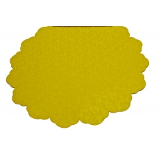 Cellophane rotondo 50 cm fiori gialli