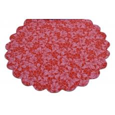 Cellophane Modello FLW Rosso con Rosa