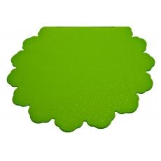 Puntini verdi chiari di cellophane rotondo da 60 cm