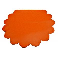 Fiori tondi in cellophane arancione da 60 cm