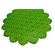 Cellophane rotondo 60 cm fiori verdi