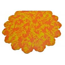 60CM Cellophane rotondo maculato arancione con giallo