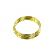 Filo di alluminio 2 mm x 5 m color oro
