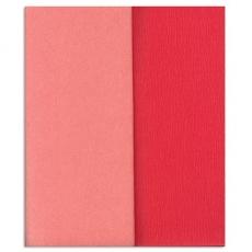 Carta crespa Gloria Doublette rosa chiaro-rosa, codice 3309