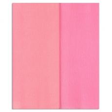Carta crespa Gloria Doublette rosa chiaro-rosa, codice 3317