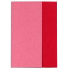 Carta crespa Gloria Doublette rosa scuro-rosso, codice 3333