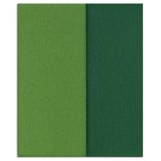 Carta crespa Gloria Doublette verdes-verde muschi, cod 3340