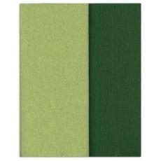 Carta crespa Gloria Doublette verde lime-verde muschio, codice 3341