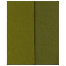 Gloria Doublette carta crespa oliva-oliva chiaro, codice 3343