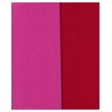 Glitter Doublette carta crespa rosa carminio-rosso, codice 3350