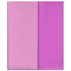 Carta crespa Gloria Doublette lilla chiaro-lilla, codice 3353