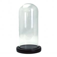 Ciotola in vetro tipo Cupola supporto legno 20x9