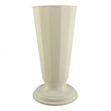 Vaso da terra 23x49 cm bianco