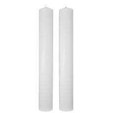 Candele nuziali cilindriche corte 40 cm / 5,5 cm