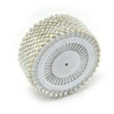 Piccoli aghi da 4 mm bianco perla
