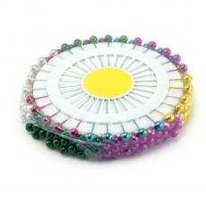 Aghi perlati da 6 mm 90 pezzi di colori misti
