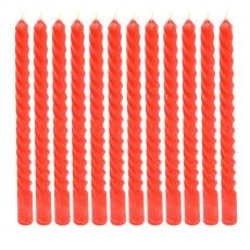 Candele rosse 12 pz. sul set