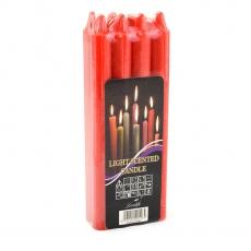 Set di 8 candele rosse H18